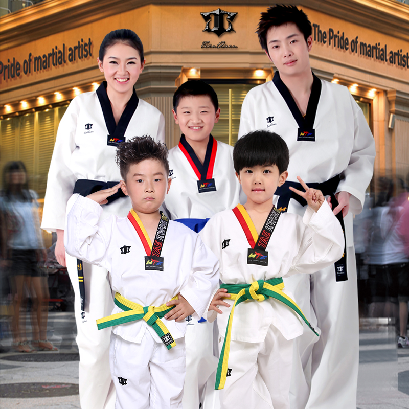 Taekwondo-Adult-children-White-dobok-Taekwondo-Suits-font-b-Uniform-b-font-100-Cotton-tae-kwon